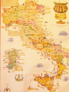 イタリアワイン産地ポスター